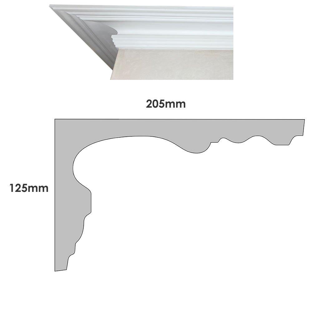Large Victorian cornice profile