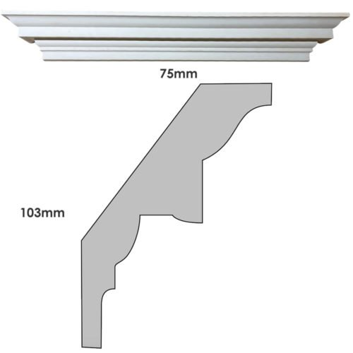 CN200 small Georgian cornice and profile