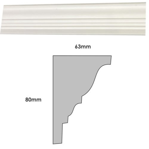 Small plain Georgian plaster cornice