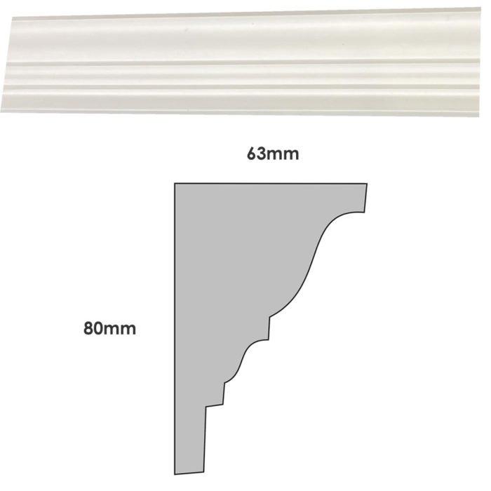Small plain Georgian plaster cornice