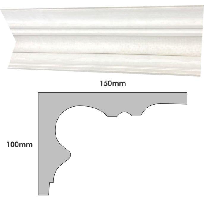 Medium plain Victorian plaster cornice