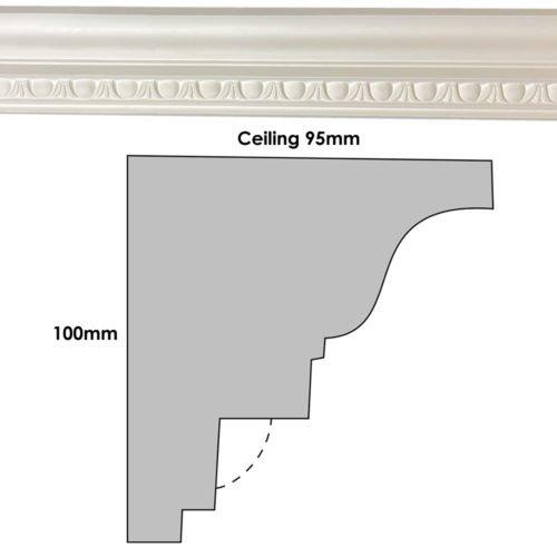 CN23 Plaster Cornice Profile
